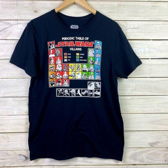 Star Wars Periodic Table Of Villains Men's Large